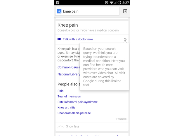 Google Video-Sprechstunde Gesundheitsexperten