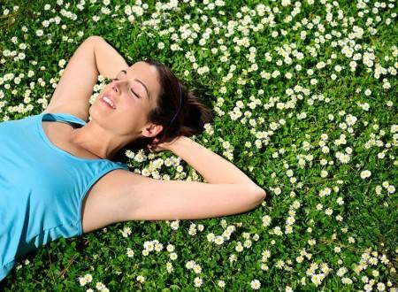 Relaxen im Frühling